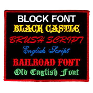 custom patch fonts